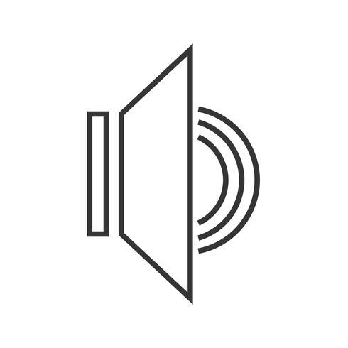 Icono de audio en línea negro