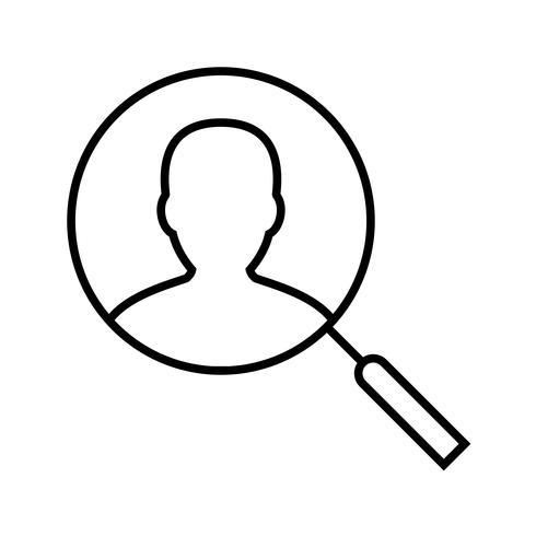 Encuentra usuario Line Black Icon