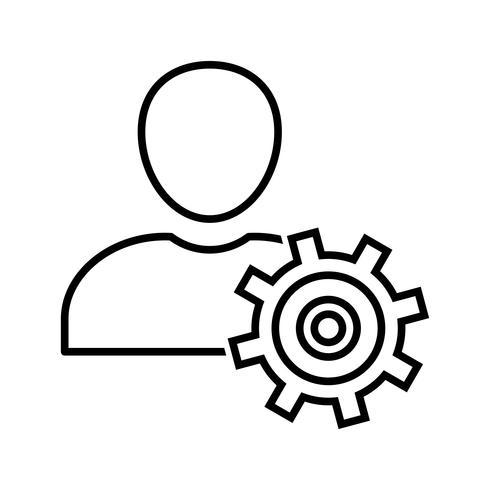 Manage Line Black Icon