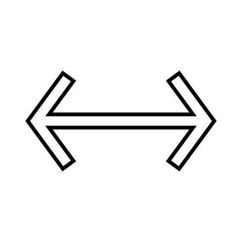 Vänster-höger linje svart ikon