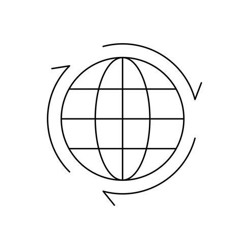 Icône Globe Line Black