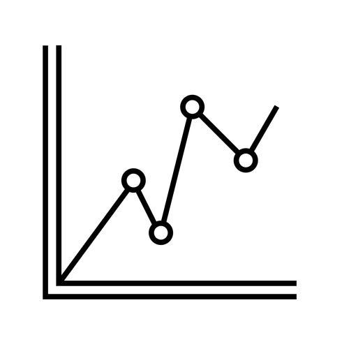 Gráfico estadístico Line Black Icon