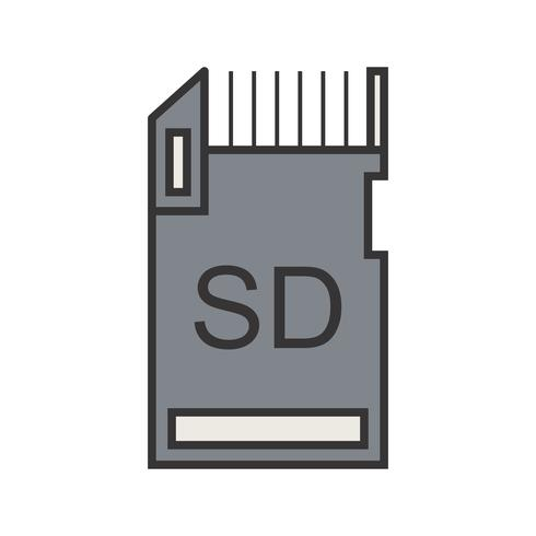 Icono de línea de almacenamiento de datos llena