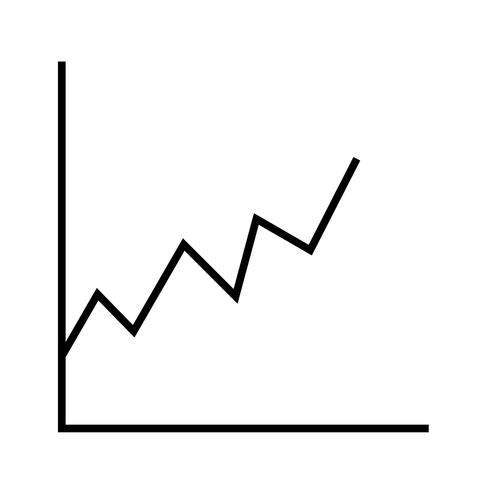 icono de línea de estadísticas negro vector