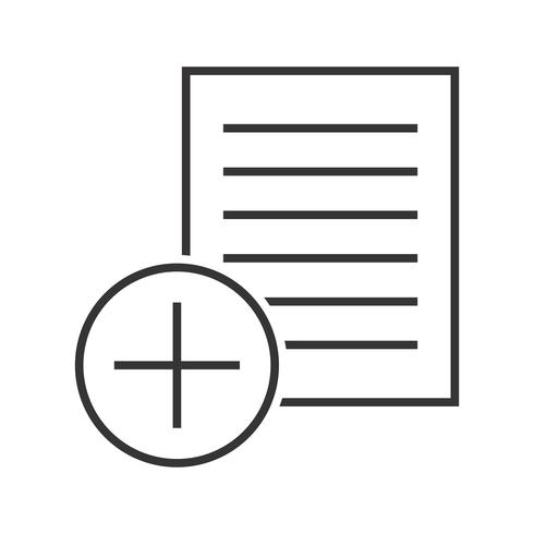 Add notes Line Black Icon