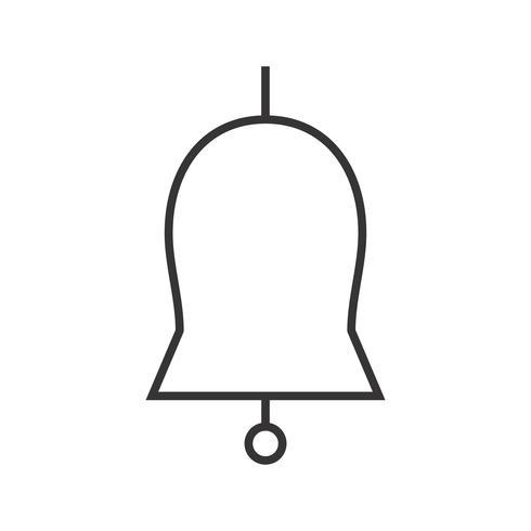 Campana de iglesia Line Black Icon