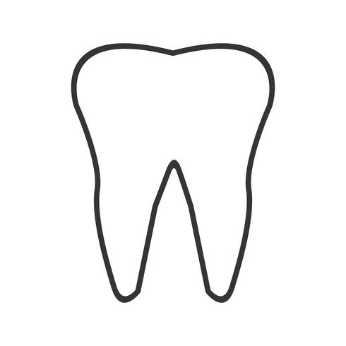 tooth Line Black Icon