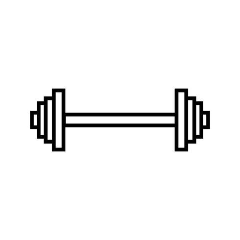 Icono de línea de levantamiento de pesas negro vector