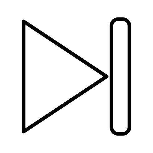 Volgende lijn gevuld pictogram