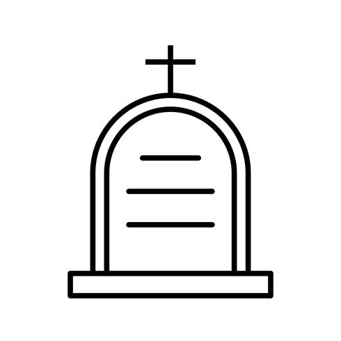 Icono de Cemetry Line Black
