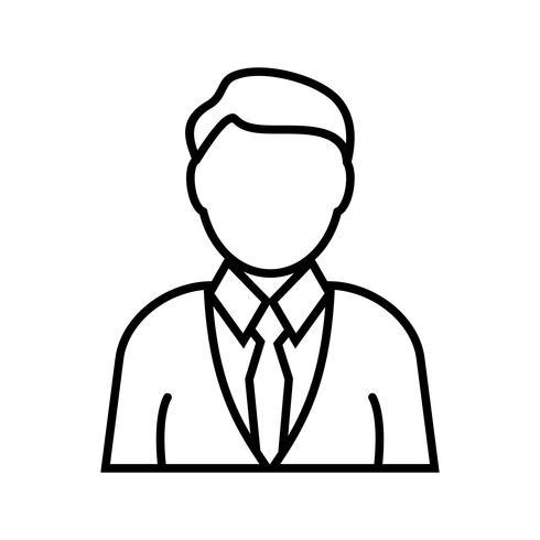 Icono de línea inversora negro