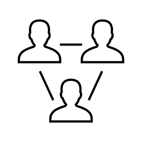 Icono de línea negra de usuarios vector