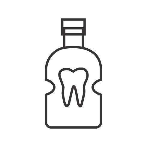 Icona del dentista linea nera