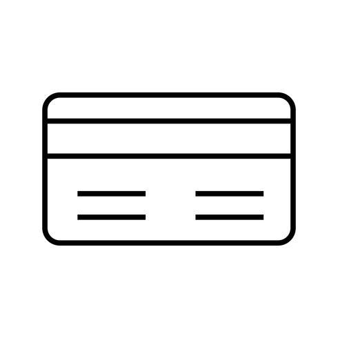 Línea de método de pago Icono negro