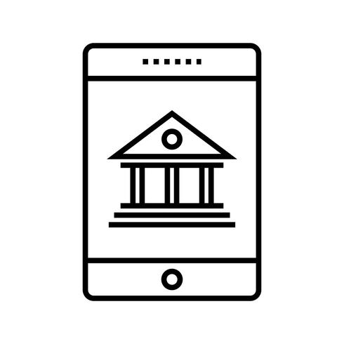 Banca Móvil Línea Negra Icono