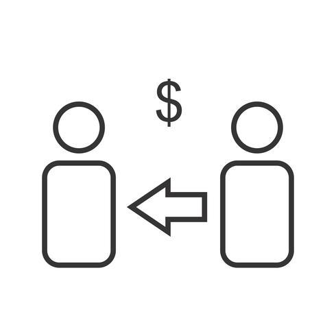 Filial de marketing Line Black Icon vector