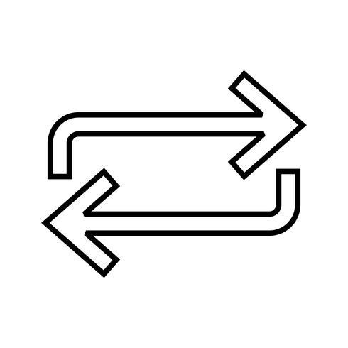 Repetir línea icono negro vector