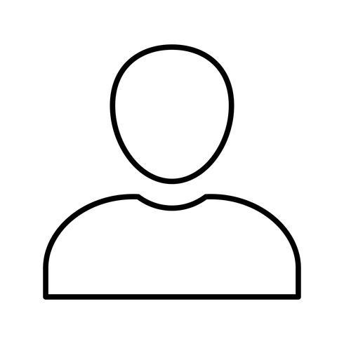 Perfil de línea icono negro vector