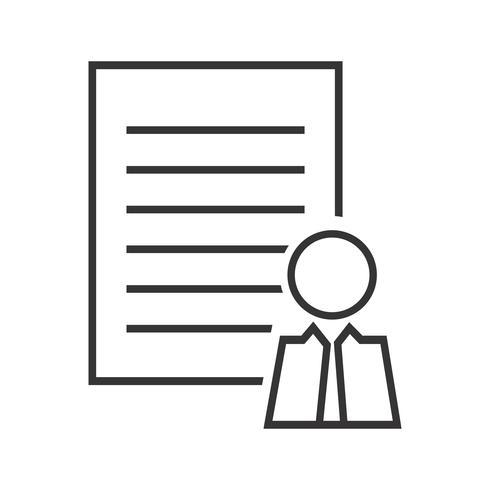 Perfil del cliente Línea Icono Negro