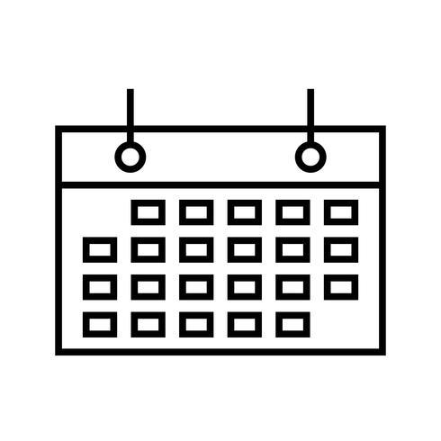 Evento programado de icono de línea negra