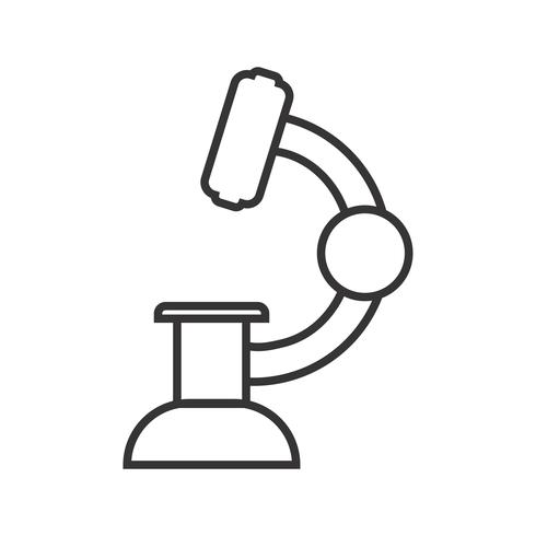 Laboratoriumlijn zwart pictogram