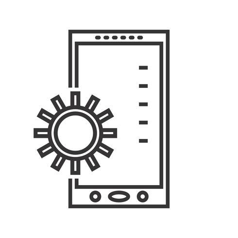 Desarrollo de aplicaciones móviles Line Black Icon vector