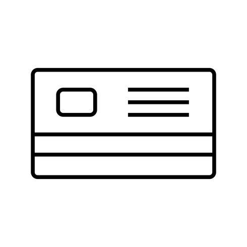 icono de línea negra de tarjeta de cajero automático