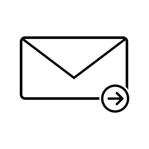 Enviar mensaje Línea Icono Negro vector