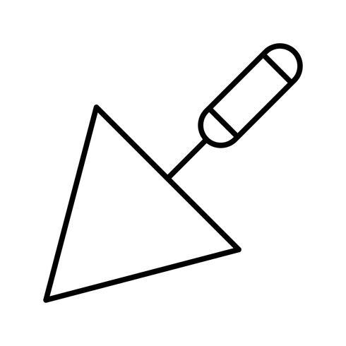 Trowel Line Black Icon