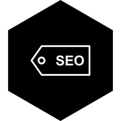 Diseño de icono de etiqueta SEO vector