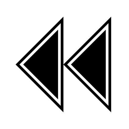 Diseño del icono de flechas hacia atrás