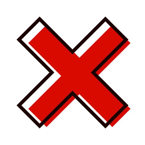 Cancelar icono de diseño vector