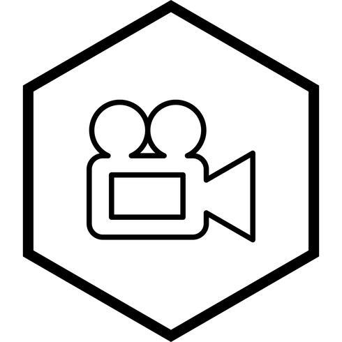 Design de ícone de câmera de vídeo vetor