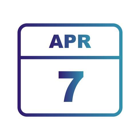 7 avril Calendrier d'une journée