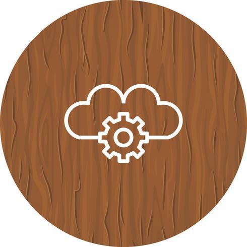 Projeto de ícone de configurações de nuvem