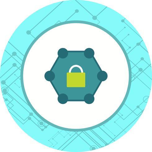 Diseño de icono de red protegido vector