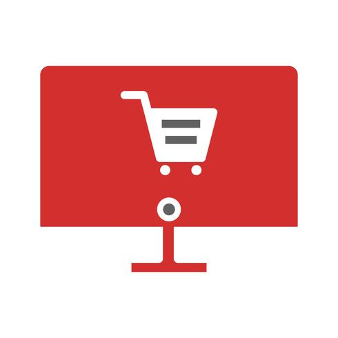 Online winkelen pictogram ontwerp