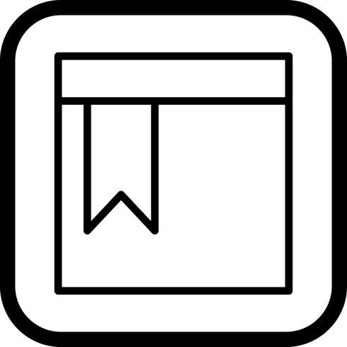 Diseño de icono de página marcada