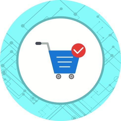 Design de ícone de itens de carrinho verificados