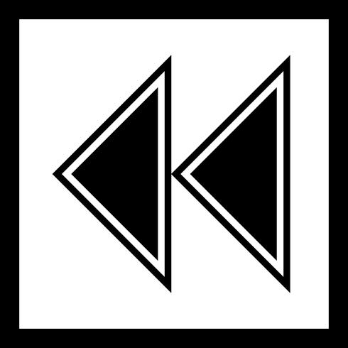 Backward Arrows Icon Design vektor