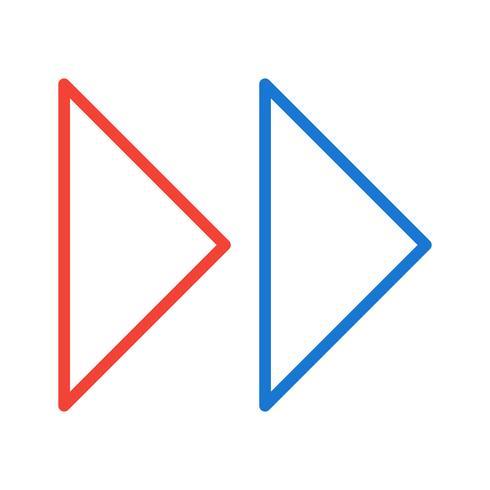 Diseño de icono de flechas hacia adelante vector