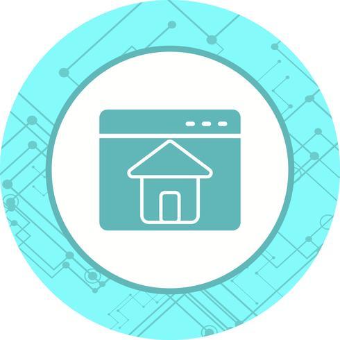 Homepage pictogram ontwerp