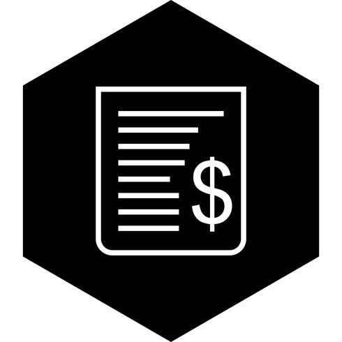 Conception d'icône de reçu