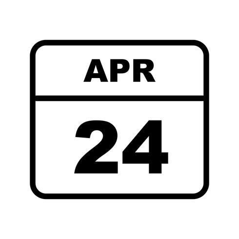 24 april Datum på en enkel dagskalender