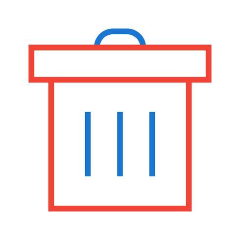 disegno dell'icona del cestino