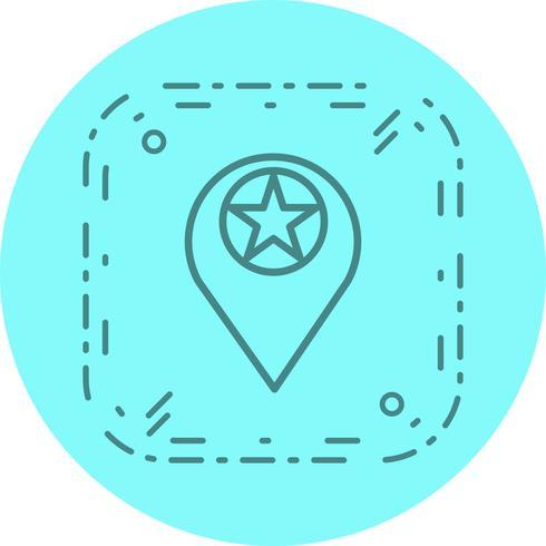 Diseño de icono de ubicación estrellada