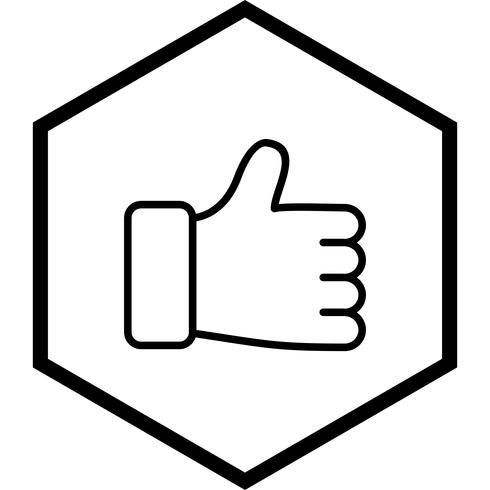 Mi piace Icon Design vettore