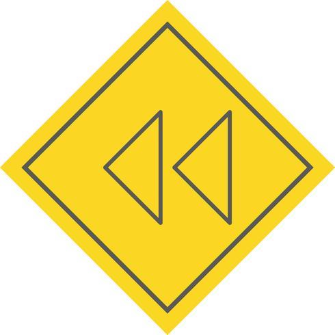 Backward Arrows Icon Design vector