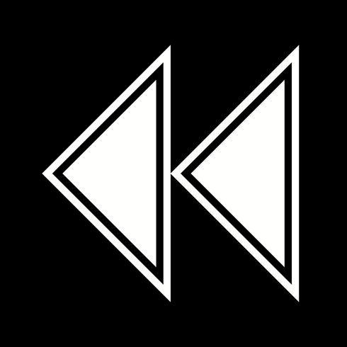 Backward Arrows Icon Design vektor