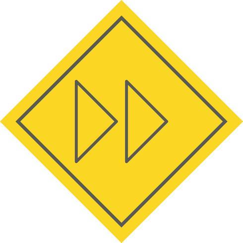 Framåtpil Ikondesign vektor